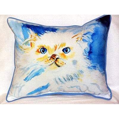 Junior the Cat Indoor/Outdoor Lumbar Pillow Size: Large
