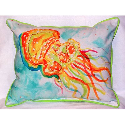 Jellyfish Indoor/Outdoor Lumbar Pillow Size: Small