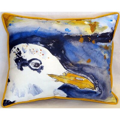 Gull Portrait Right Indoor/Outdoor Lumbar Pillow Size: 16 H x 20 W
