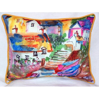 Boats At Steps Indoor/Outdoor Lumbar Pillow Size: Large