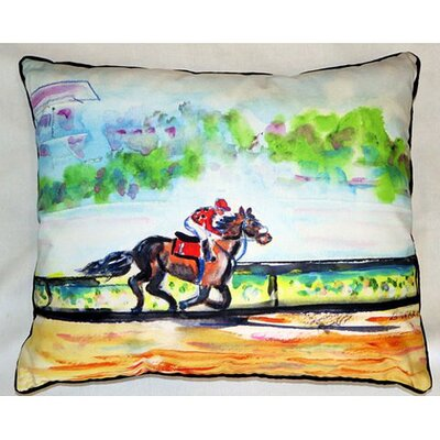 Inside Track Indoor/Outdoor Lumbar Pillow Size: Small