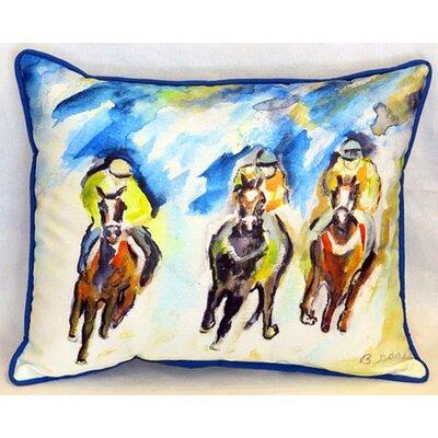 Three Racing Indoor/Outdoor Lumbar Pillow Size: Large