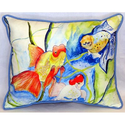 Fantails Indoor/Outdoor Lumbar Pillow Size: Small