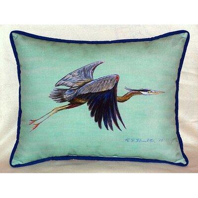 Flying Heron Indoor/Outdoor Lumbar Pillow