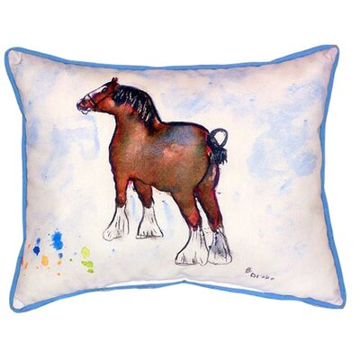 Clydesdale Indoor/Outdoor Lumbar Pillow Size: Small