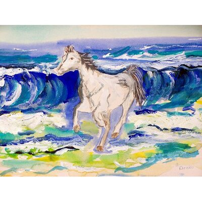 Horse and Surf Doormat Rug Size: 16 x 22