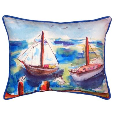 Two Sailboats Indoor/Outdoor Lumbar Pillow Size: Large
