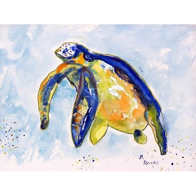 Sea Turtle Doormat Rug Size: 1'6