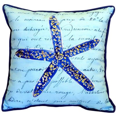 Starfish Indoor/Outdoor Euro Pillow Size: Small