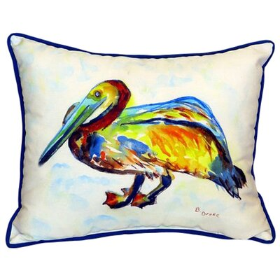 Gertrude Pelican Indoor/Outdoor Lumbar Pillow Size: Small