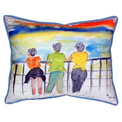Ladies Looking Indoor/Outdoor Lumbar Pillow Size: Small