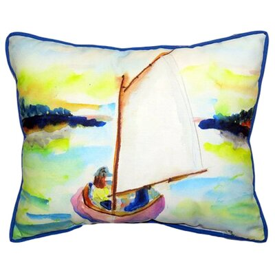 Sailboat Indoor/Outdoor Lumbar Pillow Size: Large
