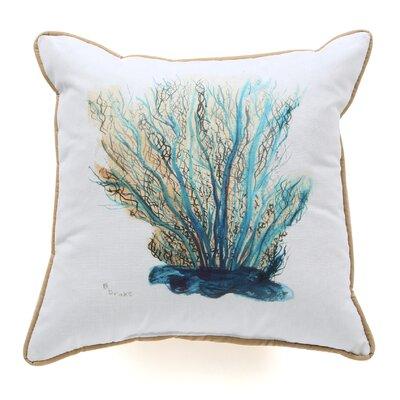 Coral Indoor/Outdoor Throw Pillow