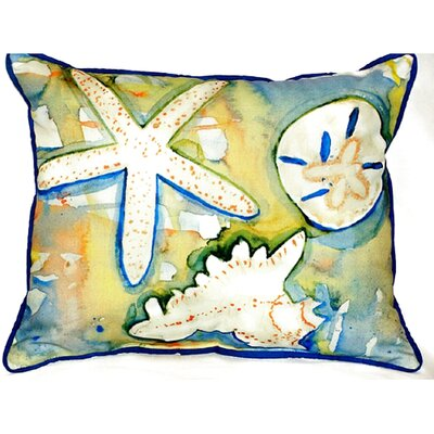 Beach Treasures Indoor/Outdoor Lumbar Pillow Size: Small
