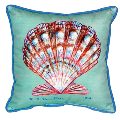 Scallop 22 Indoor/Outdoor Throw Pillow Color: Teal