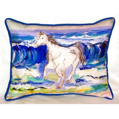 Horse and Surf 24 Indoor/Outdoor Lumbar Pillow