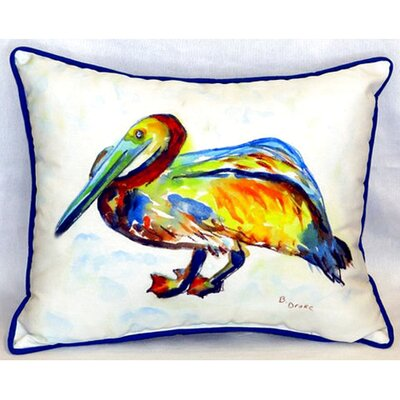 Gertrude Pelican 24 Indoor/Outdoor Lumbar Pillow