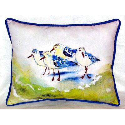 Sanderlings 24 Indoor/Outdoor Lumbar Pillow