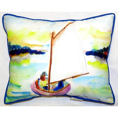 Sailboat 24 Indoor/Outdoor Lumbar Pillow