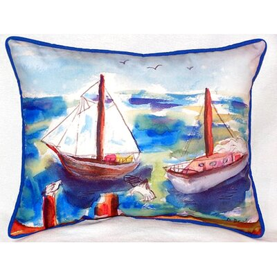 Two Sailboats 24 Indoor/Outdoor Lumbar Pillow
