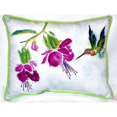 Hummingbird 24 Indoor/Outdoor Lumbar Lumbar Pillow