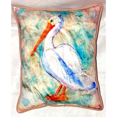 Pelican on Rice 24 Indoor/Outdoor Lumbar Pillow