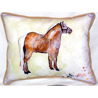 Shetland Pony 24 Indoor/Outdoor Lumbar Pillow