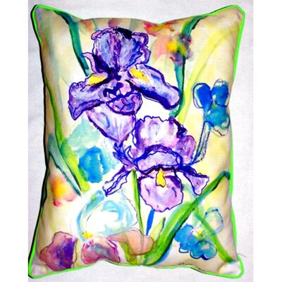 Two Irises Indoor/Outdoor Lumbar Pillow