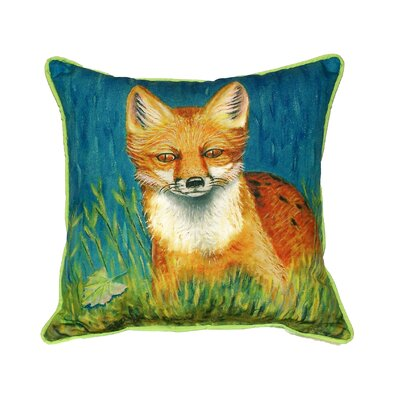 Fox Indoor/Outdoor Throw Pillow Size: Large