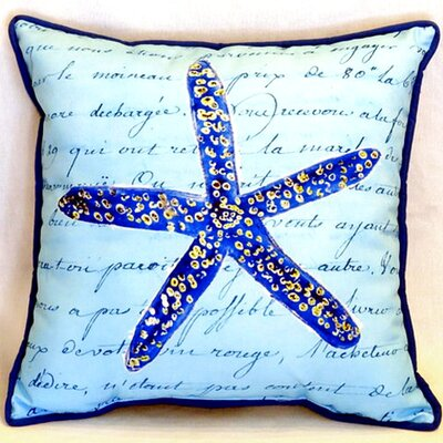 Starfish 22 Indoor/Outdoor Throw Pillow