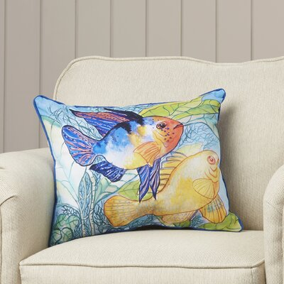 Coastal Two Fish Indoor/Outdoor Lumbar Pillow