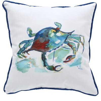 Coastal Crab Indoor/Outdoor Throw Pillow