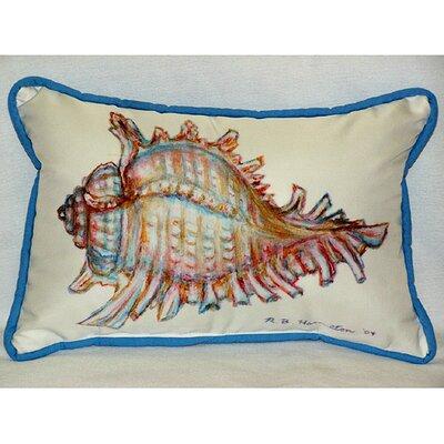 Coastal Conch Shell Indoor/Outdoor Lumbar Pillow