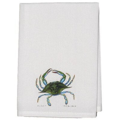 Coastal Crab Hand Towel (Set of 2) Color: Blue