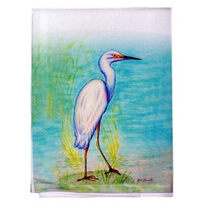 Coastal Snowy Egret Hand Towel (Set of 2)