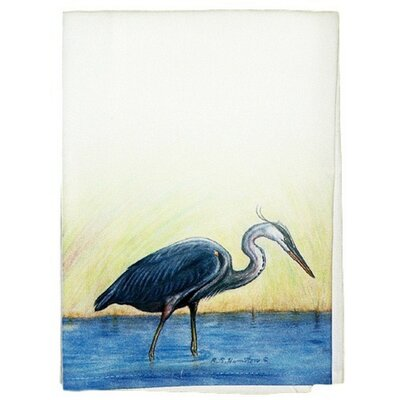 Coastal Great Heron Hand Towel (Set of 2)