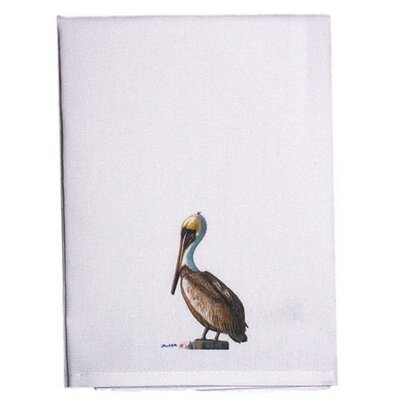 Coastal Sitting Pelican Hand Towel (Set of 2)