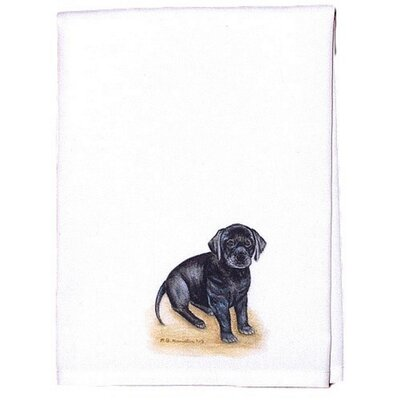 Pets Lab Puppy Hand Towel (Set of 2)