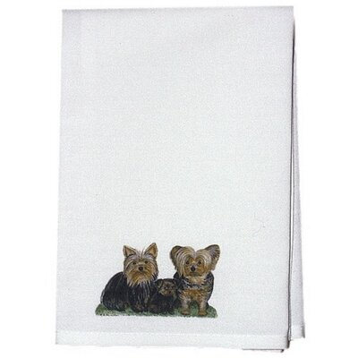 Pets Yorkies Hand Towel (Set of 2)