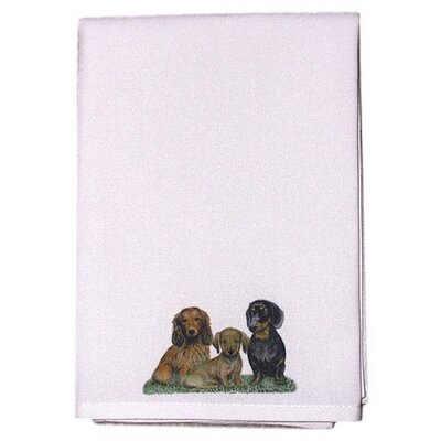 Pets Dachshunds Hand Towel (Set of 2)