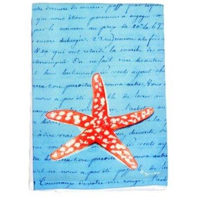 Starfish Script Hand Towel