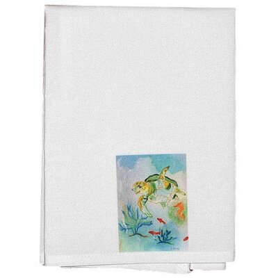 Coastal Sea Turtle Hand Towel (Set of 2)