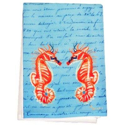 Sea Horses Script Hand Towel