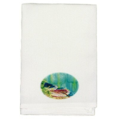 Coastal Row Boats Hand Towel (Set of 2)