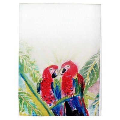 Garden Two Parrots Hand Towel (Set of 2)