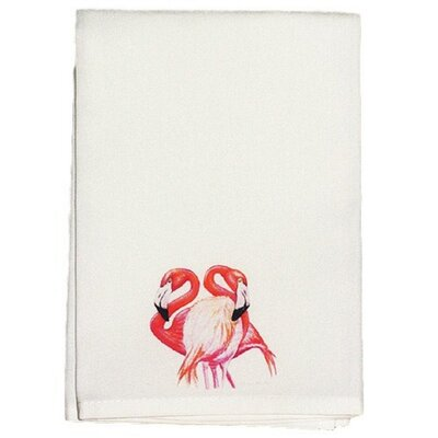 Coastal Two Flamingos Hand Towel (Set of 2)