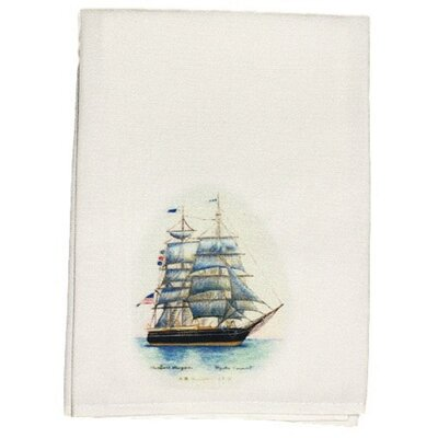 Coastal Whaling Ship Hand Towel (Set of 2)