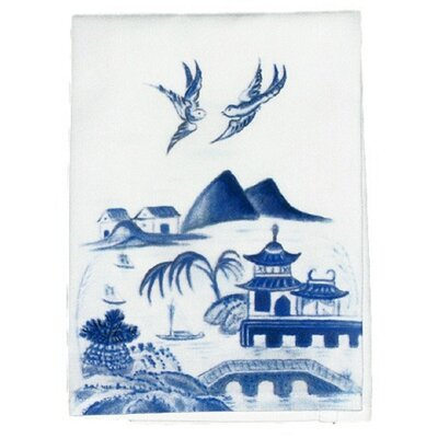 Garden Canton Scene Hand Towel (Set of 2)