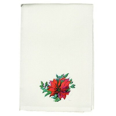 Garden Poinsettia Hand Towel (Set of 2)