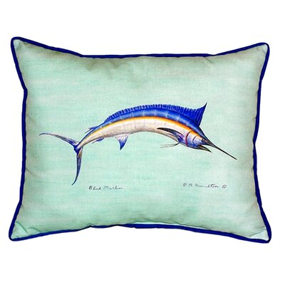 Marlin Indoor/Outdoor Lumbar Pillow Size: 24 H x 20 W, Color: Teal